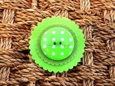 Lime Green Felt and Button Brooch. £2.45