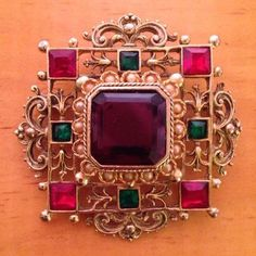 1950's/60's Elizabeth Reimer- Arcansas Renaissance period brooch. Bangles, Bracelets, Renaissance, Period, Vintage Jewelry, Brooch, Jewellery, Design, Fashion