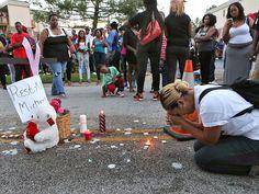 michael brown's murder   Vandalism and Looting Erupts Following Vigil for Missouri Teen Shot by ...