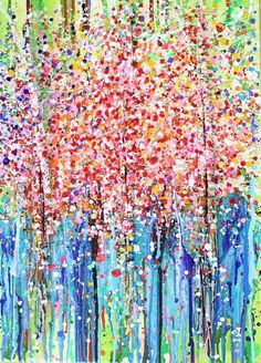 숲forest,나무 tree아크릴화 Acrylic with bark (size:50×70)Snow in Summer Australia
