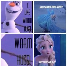 Frozen. Olaf and Elsa