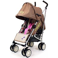 iSafe buggy Stroller Pushchair - Flowers (Complete With Rain cover) Best Baby Strollers, Double Strollers, Compact Umbrella, Jogging Stroller, Storage Baskets, Rain, Children, Cover, Flowers