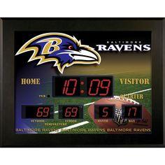 Baltimore Ravens Deluxe Illuminated Scoreboard