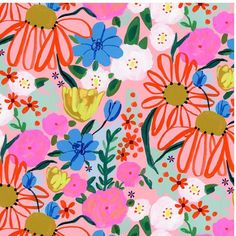 Some flower power🌸 See the original used to make this pattern in my stories. #gouachepainting #taralilly #taralillystudio via @taralilly