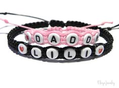 Daddy and daughter matching bracelets  by #ElwynJewelry