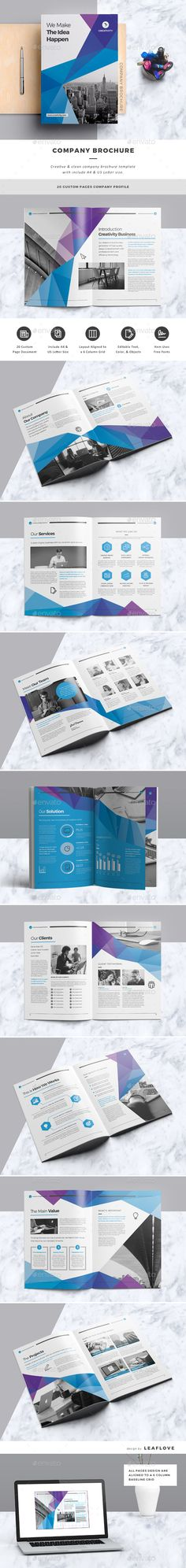 The Company Profile Brochure Template Indesign Indd Company