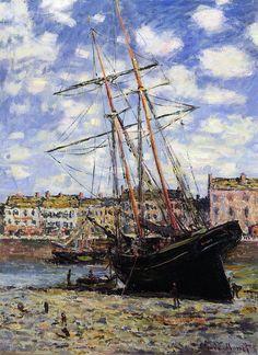 Claude Monet - Boat at Low Tide at Fecamp 1881
