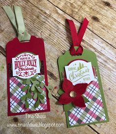 Tina Loves to Stamp: Christmas Tags!!