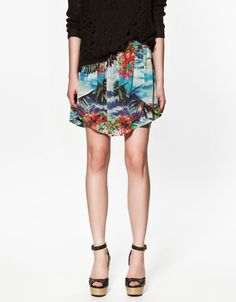 Asymmetry will never get old to me    *Asymmetric Chiffon Skirt, Zara*