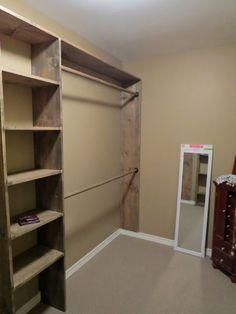 ideas master closet organization cheap laundry rooms for 2019 Organizing Walk In Closet, Diy Walk In Closet, Diy Closet Shelves, Cheap Shelves, Cupboard Shelves, Build A Closet, Cheap Closet, Closet Small, Simple Closet