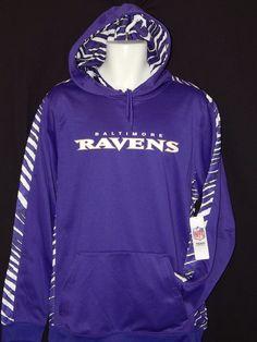 9ef8c8ed2a25 Baltimore Ravens Hooded Sweatshirt MENS Size Large NFL Team Apparel Purple  Logo…