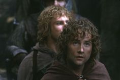 Still of Sean Astin and Billy Boyd in The Lord of the Rings: The Fellowship of the Ring