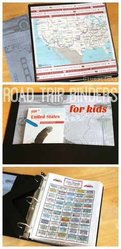 Road Trip Binder for Kids: free printable and ideas for cross country travel with kids!