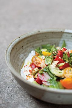 Fattoush with Fava Beans