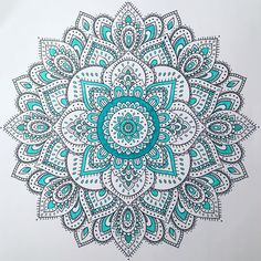 "84 Likes, 5 Comments - Lo (@justkeepupwithme) on Instagram: ""Today's Mandala! #marker #mandala #markers #mandalas #color #colors #coloring #colour #teal…"""