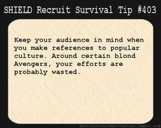 SHIELD survival tips