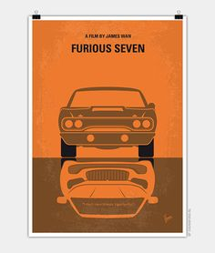 My Furious 7 minimal movie poster Deckard Shaw seeks revenge against Dominic Toretto and his family for his comatose brother.
