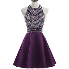 HEIMO Women's 2017 Sparkly Beaded Homecoming Dresses Sequined Prom... (310 BRL) ❤ liked on Polyvore featuring dresses, gowns, purple prom dresses, beaded gowns, sparkly prom dresses, homecoming dresses and purple gown