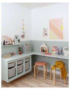 Playroom Storage, Kids Storage, Playroom Decor, Bedroom Decor, Playroom Ideas, Ikea Kids Bedroom, Bedroom Wall, Storage Ideas, Ikea Kids Playroom
