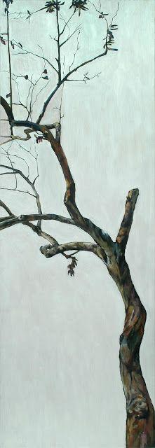 hermelando b m: Stunted tree. Oil on board. 60 x 180 cm
