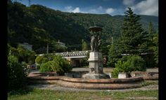 Abandonments in the Ghost Town of Gagra, Georgia (Abkhazia), Russia: Fountain