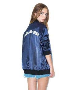You Wish Reversible Satin Jacket