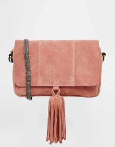 Buy ASOS Suede Cross Body Bag With Snake Strap at ASOS. With free delivery and return options (Ts&Cs apply), online shopping has never been so easy. Get the latest trends with ASOS now. Asos, Real Leather, Leather Bag, Clutch Bag, Crossbody Bag, Serpent, Pink Handbags, Fabric Bags, Fashion Bags