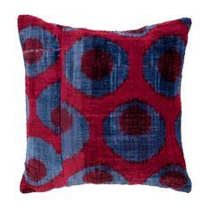 Sugarplum Casbah Velvet Ikat Pillow
