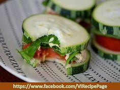 cucumber, spinach, tomato and tuna... healthy snack!
