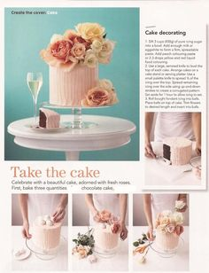 Cake decorating with real flowers