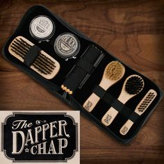Every man who takes pride in his appearance will love our Dapper Chap Shoe Shine Kit. The kit is stylish and elegant and it comes in a handy travel case that features 4 different brushes, 2 cloths, neutral and black shoe polishes. Gadget Gifts For Men, Best Gifts For Men, Black Shoe Polish, Chiffon, Clean Shoes, Great Birthday Gifts, Cleaning Kit, Boyfriend Gifts, Dapper