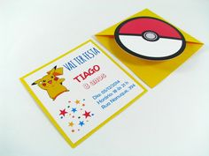 Convite e Marcador de Pagina Pokemon