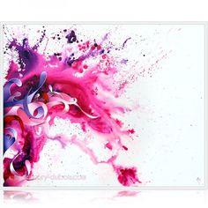 "Peinture tache abstraite dripping ""Lilac wine"" Amaury Dubois"