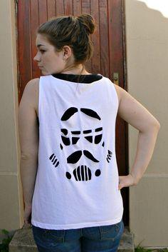 DIY Stormtrooper Cut Out Shirt