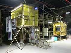 studio makkink and bey workscape theatre shenzhen 2015 bi-city biennale of urbanism architecture designboom Interactive Installation, Installation Art, Bamboo Building, India House, Temporary Structures, Diy Shed, House Inside, Scaffolding, Play Houses
