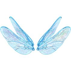 blushbutter_faery_wing2_BLUE.png ❤ liked on Polyvore featuring wings, filler and backgrounds