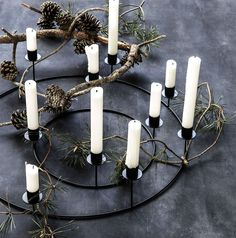 Versatile candle stand from House Doctor that works all year around. Christmas Trends, Noel Christmas, Christmas 2019, Scandi Christmas, Xmas, Christmas Mood, Christmas Design, Christmas Colors, Holiday
