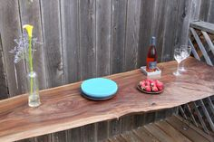 walnut slab desk/table