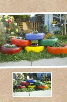 Old tires planters