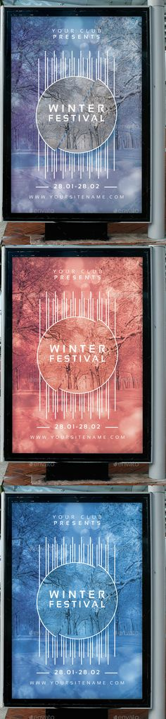 Winter Festival Flyer Poster Template PSD