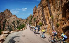 The Tour de France 2013 on Corsica with our Jan Bakelants in the yellow jersey.