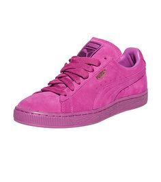 b6b7f0a3ef3  PUMA  Suede Classic Mono sneaker  Lace up closure  Signature PUMA cat logo  branding detail on side of shoe  Smooth suede upper  Cushioned inner sole  for ...