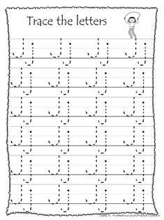 26 Printable Trace the Alphabet Worksheets. Letter Worksheets For Preschool, Alphabet Tracing Worksheets, Preschool Coloring Pages, English Worksheets For Kids, Preschool Writing, Numbers Preschool, Writing Worksheets, Kindergarten Font, Letra Script