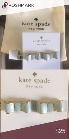 Kate Spade bow earrings Brand new, never worn or even tried on. Perfect condition. kate spade Jewelry Earrings