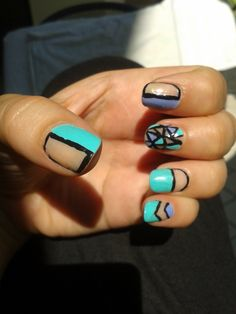 Cut Out Nailart - inspired by  http://it.pinterest.com/pin/315463148871595527/
