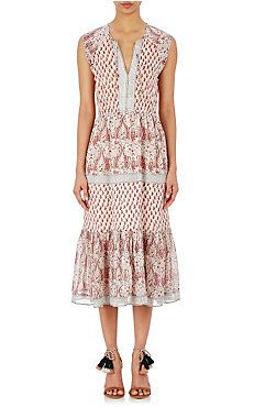 Ulla Johnson Georgette Tropez Midi Dress
