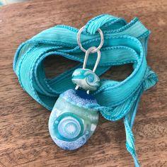 Ocean - Konstruct Series Glass and silver pendant by Jennifer Geldard