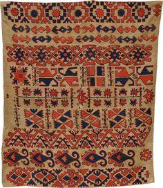antique embroidered wool Kilim, Kungrat, Uzbekistan, end of XIXth century, circa cm 163X134 ref 5822