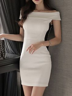 b1e716dd4a40 Boatneck Collar Simple Sexy Dresses_Strapless&Tube Dress_DRESSES_Wholesale  clothing, Wholesale Clothes Online From China Beautiful Asian Women