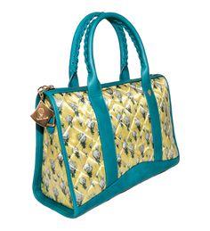 Crystal Bi-color Canary Yellow- Powder Blue http://federicalunello.com #federicalunello #bags #accessories #handmade #madeinitaly